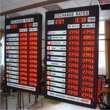 LED-exchange-rate-board